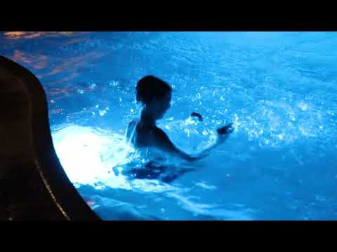 Night swimming in Palm Springs