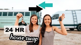 TINY HOUSE SWAP | van life vs. bus life