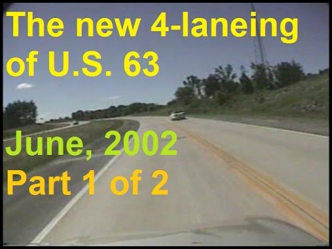 The new 4-Laneing of U.S. 63 | Moberly to MO 22 | June 14, 2002 | 1 of 2
