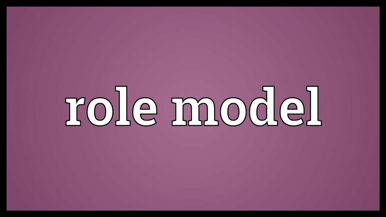 Role model meaning youtube for Synonym modell