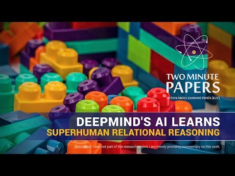 DeepMind's AI Learns Superhuman Relational Reasoning | Two Minute Papers #168