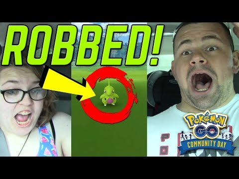 I WAS ROBBED OF THIS SHINY LARVITAR!!! Pokemon GO Community Day | June 2018 thumbnail