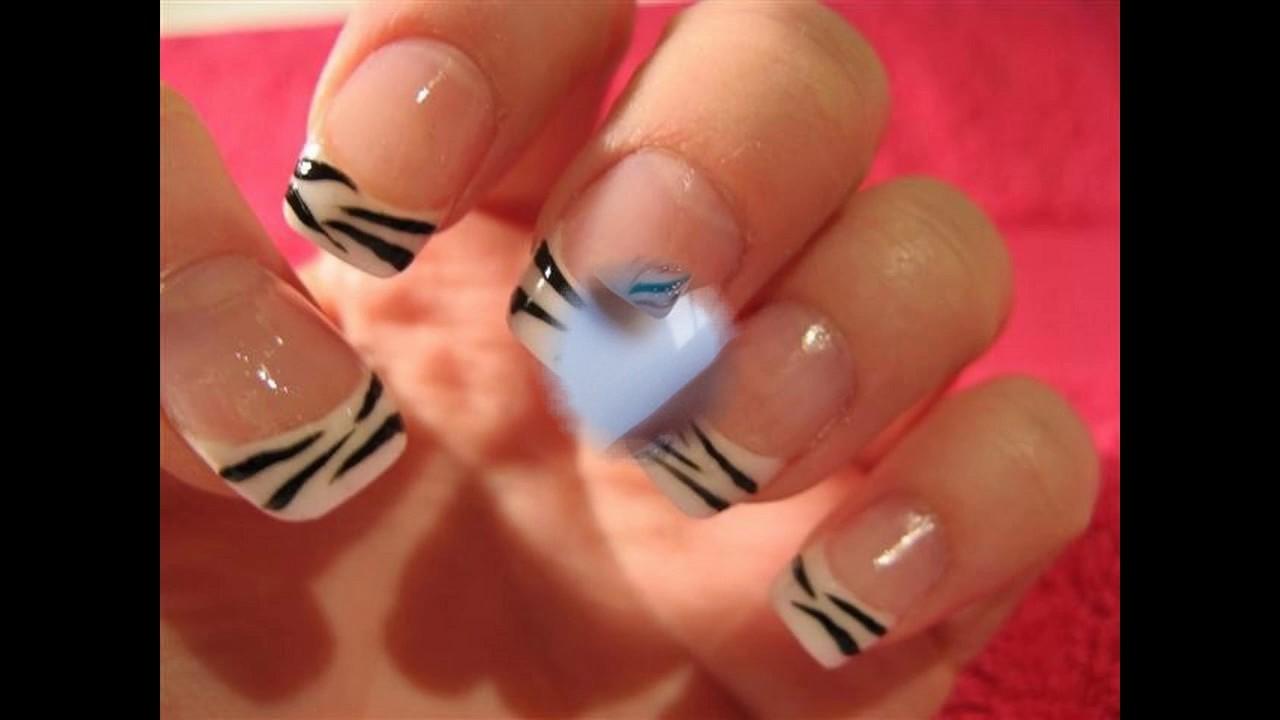 Diseño uñas decoradas francés sencillas y elegantes - YouTube