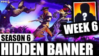 WEEK 6 HIDDEN/ SECRET BANNER LOCATION (hidden battlestar) | Season 6 - Hunting Party | Fortnite