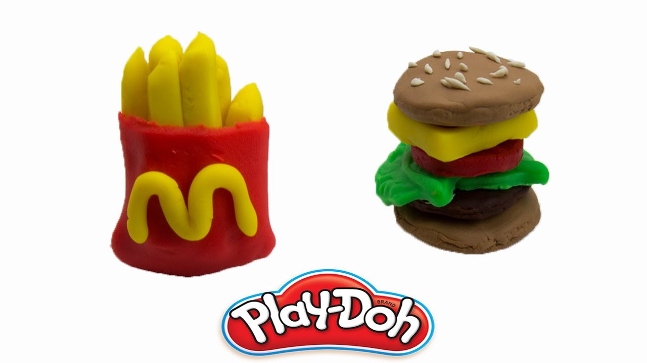 How To Make McDonalds French Fries Food With Play Doh Toys Video For ...