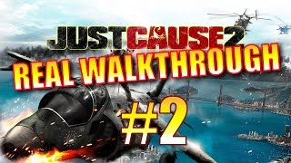 Just Cause 2 Walkthrough - Part 2 - Casino Bust 1 (Panau Falls Casino - 100% Completion)