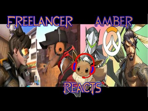 Freelancer Amber Reacts: Rap Battle  Tracer vs Scout & Genji vs Hanzo