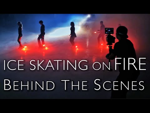 Ice Skating On Fire! Behind the Scenes