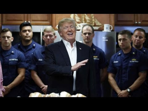 AMAZING: President Donald Trump SHOCKS Coast Guard Station in Lake Worth  with Thanksgiving Banquet