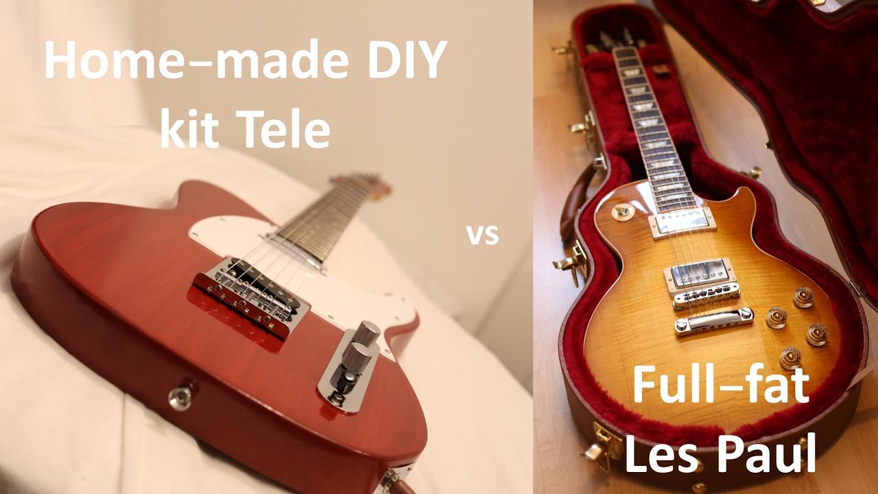 David Vs Goliath Harley Benton T Style Kit Vs Gibson Les Paul Youtube