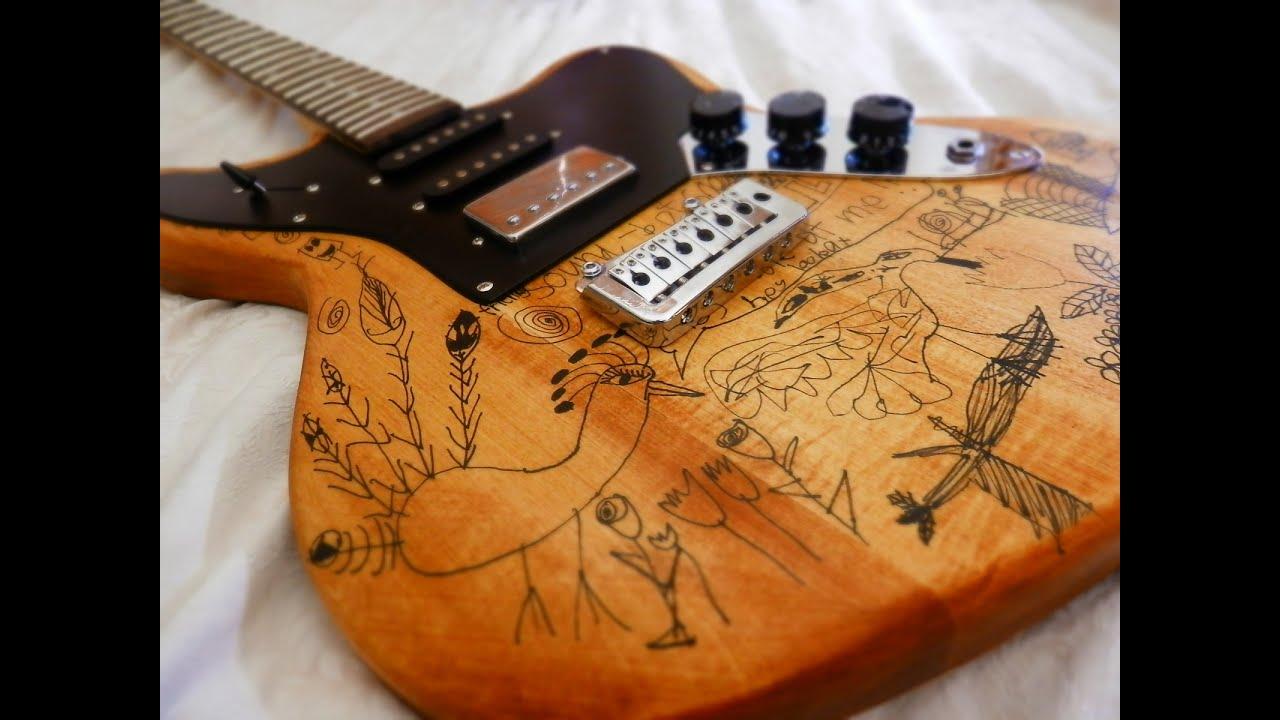 guitar kit assembly jaguar style with cool artwork youtube. Black Bedroom Furniture Sets. Home Design Ideas