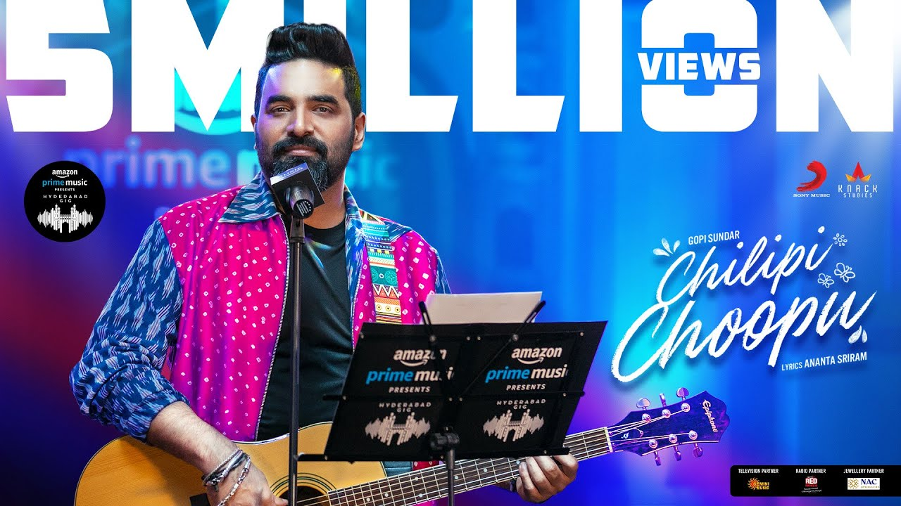 Amazon Prime Music Hyderabad Gig | Chilipi Choopu Video | Gopi Sundar