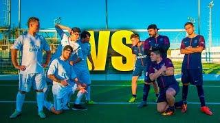 REAL MADRID VS PSG 4vs4 | PARTIDO FÚTBOL [Crazy Crew]