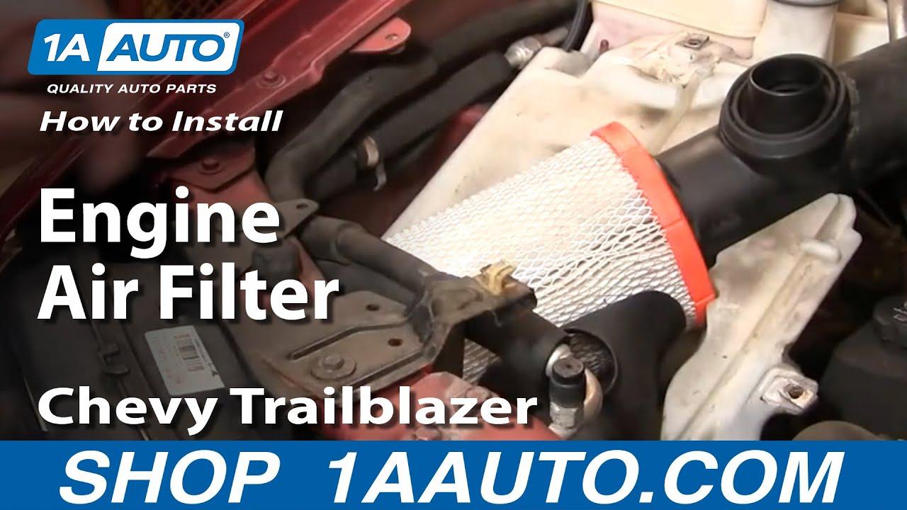 medium resolution of how to install replace engine air filter chevy trailblazer gmc envoy 02 09 1aauto com youtube