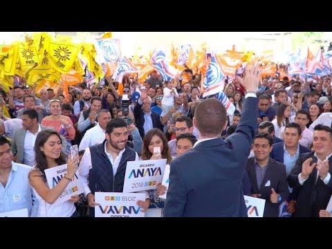 Ricardo Anaya registra su candidatura a la Presidencia de la República, ante el INE.
