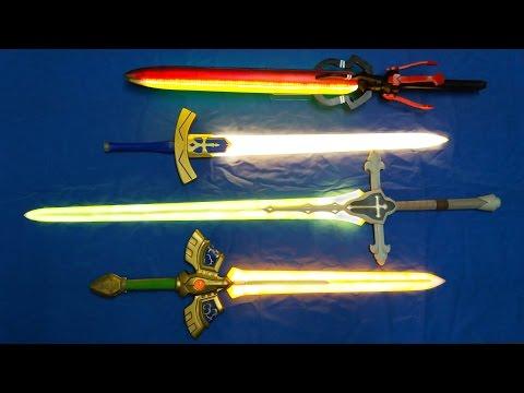Magic LED swords for cosplay - Sword of seals, Excalibur, Balmung, Attila