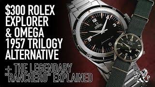 The Coolest $300 Alternative To A Rolex Explorer, Omega 1957 Seamaster, Railmaster & Ranchero Watch