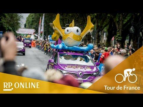 Tour de France: Werbekarawane zieht durch Düsseldorf