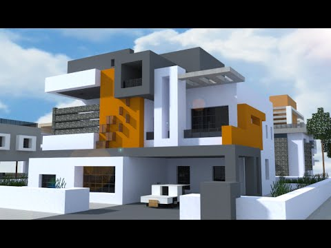 Minecraft descarga casa moderna prismarine minecraft for Zoccolo casa moderna