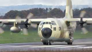 Lockheed C-130 Hercules - Royal Morocco Air Force - Take Off at Airport Bern-Belp