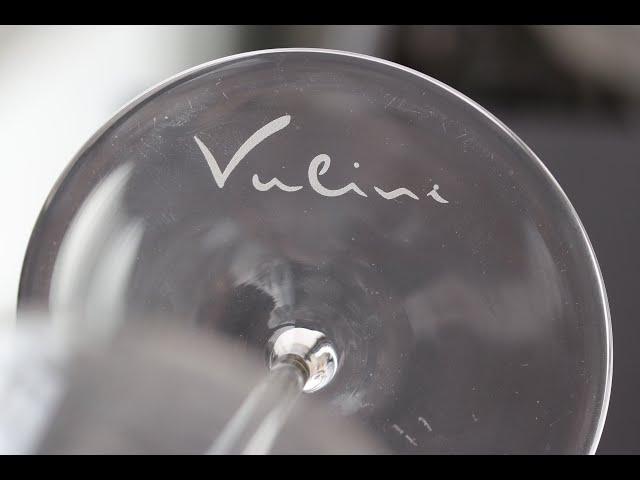 Lotus Laser Systems Meta C 5w UV PI laser marking a high quality wine glass