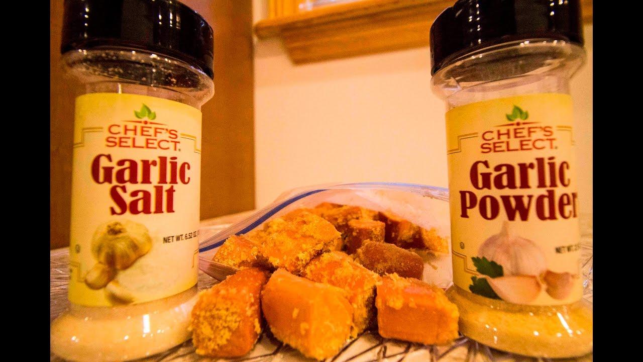 How to salt garlic