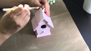 Altered Wooden Birdhouse.
