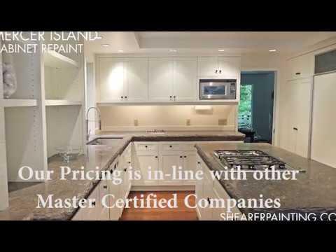 Painted Cabinets Bids 206 431 3606 Seattle Wa Youtube