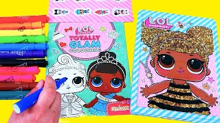 Speed Coloring Barbie Play Pack & LOL Dolls Happy Tin   SWTAD Vids Learn Through Play Activities