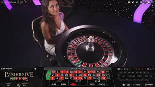 £100 Vs Live Dealer Immersive Roulette 18th July 2017