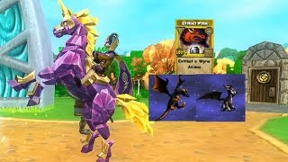 Dragon Friends! New Extract Wyrm Card For Monstrology! (Wizard101)