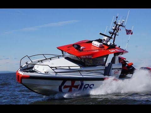 P42 Test run, Hydrolift and RS Crew (The Norwegian Society for Sea Rescue) high speed boat