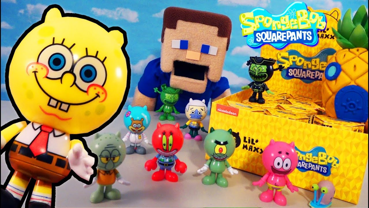 SpongeBob Squarepants CATS?? Lil'' Maxx Sponge on the Run Movie Figures Toys! Case Unboxing