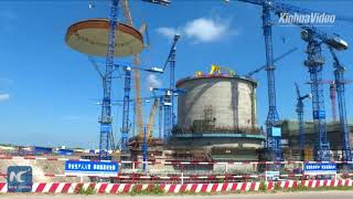 Dome installed on reactor at nuclear power project in China's Guangxi thumbnail