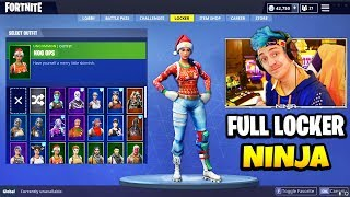 Ninja Shows ALL HIS RARE SKINS, GLIDERS AND PICKAXES (Full Locker) | Fortnite Skin Collection
