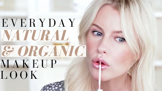 EVERYDAY NATURAL & ORGANIC MAKEUP TUTORIAL / JUICE BEAUTY, ILIA, VAPOUR and more. | Mikaela South