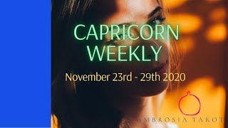 Capricorn Weekly Love Check-in - New Love is coming - November 23 - 29 2020