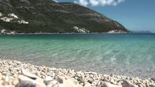 Greece beach relaxation Lefkada Poros beach