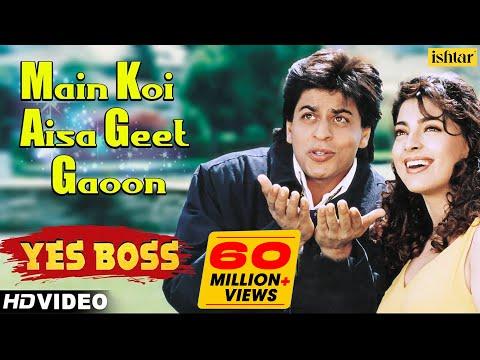 Main Koi Aisa Geet Gaoon - HD VIDEO   Shah Rukh Khan & Juhi Chawla   Yes Boss   90's Romantic Songs