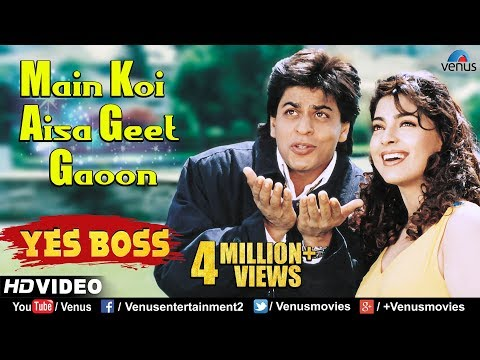 Main Koi Aisa Geet Gaoon - HD VIDEO | Shah Rukh Khan & Juhi Chawla | Yes Boss | 90's Romantic Songs