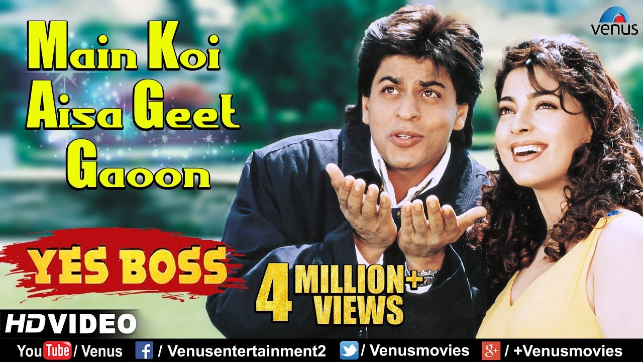 Main Koi Aisa Geet Gaoon - HD VIDEO | Shah Rukh Khan & Juhi Chawla | Yes Boss | 90's Romant
