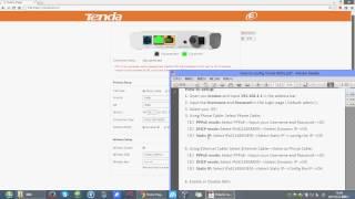 How to setup Tenda Modem Router