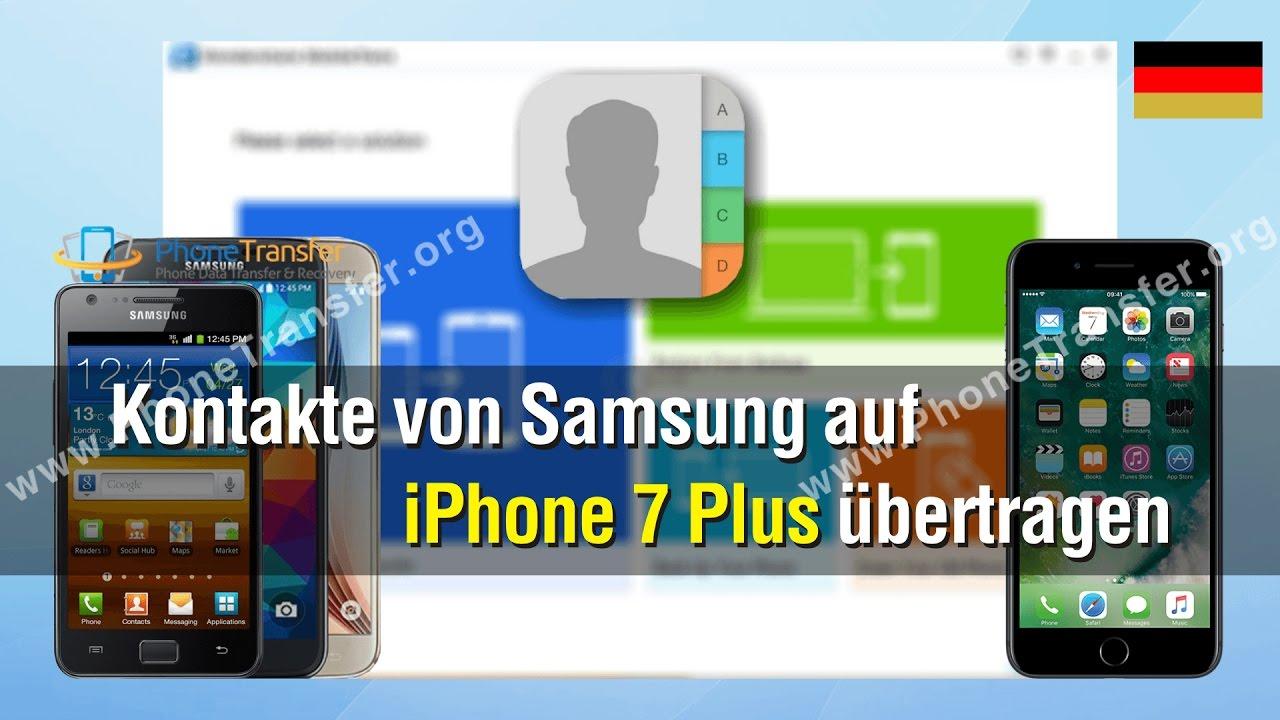 samsung kontakte übertragen iphone
