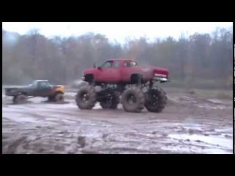 Monster Chevy Mud Truck Gets Stuck In Deep Pit