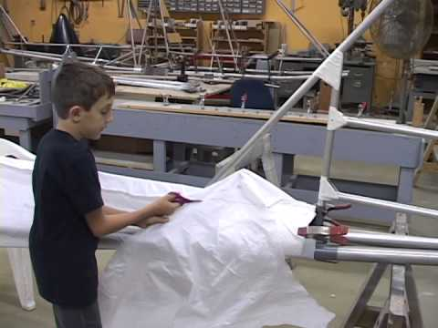 Excalibur Aircraft Fabric work so easy a child can do it - part  3