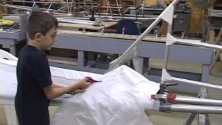 Excalibur Aircraft Fabric work so easy a child can do it pt.3