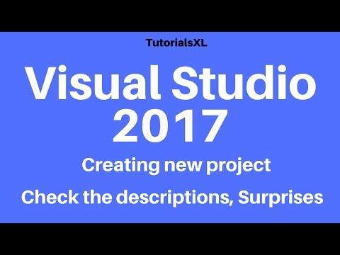 Microsoft Visual Studio 2017 - Creating new project in Visual Studio 2017
