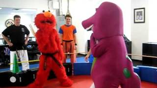 Elmo vs Barney