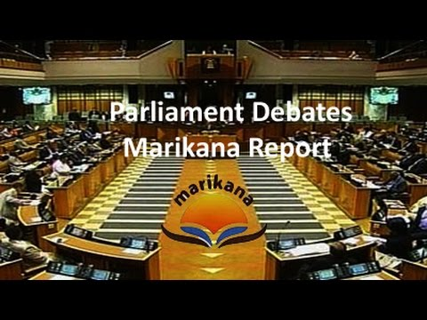 National Assembly debates the Marikana Report, 13 August 2015