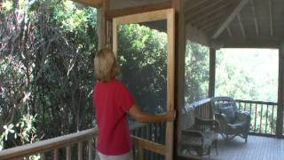 How To Install A Solid Wood Screen Door From Screen Tight™